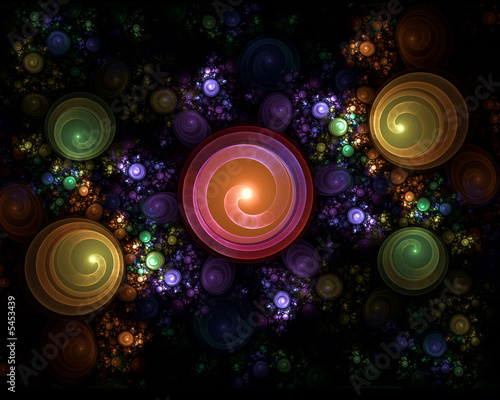 Plakat colorful swirls, abstract composition