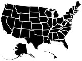 Fototapety Detailed illustration of all fifty states