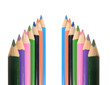 A photo of colorful drawing pencils