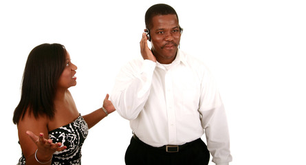 African American Couple Miscommunication