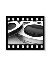 16mm movie in film frame