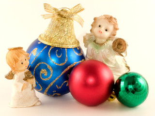 Angels and new-year toys