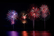 Colorful Firework Show Finale