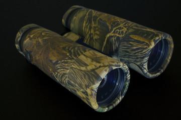 camouflage binoculars on black