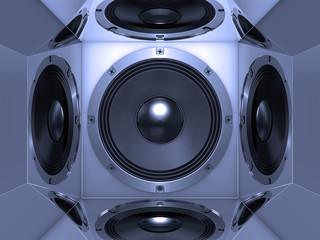 Bass speaker system background