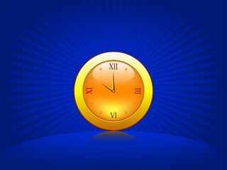 Illustration of clock in abstract background