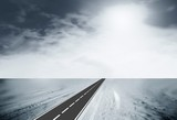 strada e neve