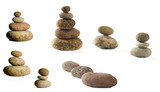 composition of some stones conceptual image poster