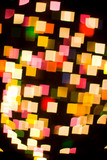 bokeh series - squares, abstract colorful background poster