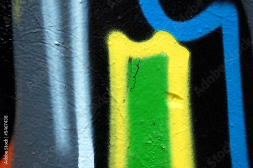 Detail of a wall covered with graffiti. Abstract background. © sirylok