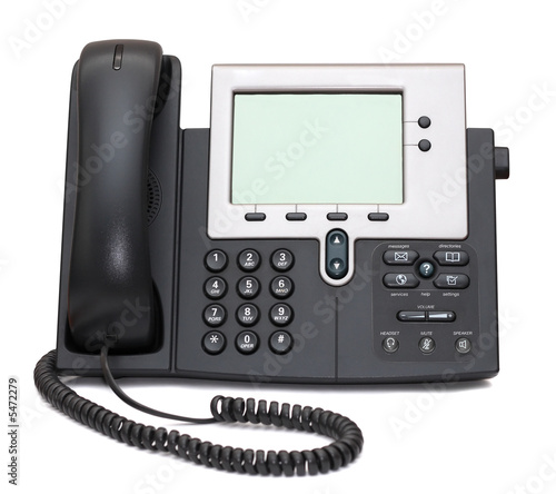 Two-channel IP Phone isolated on white background