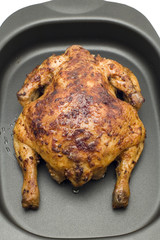 object on white - food - roasting chicken