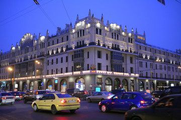 Moscow, Russia, Teatral'naya square, Cristmas and New year