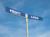 Profit and Loss signpost poster