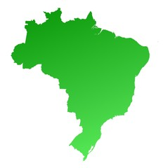 Green gradient Brazil map