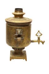Old russian bronze samovar