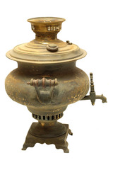 Old russian bronze samovar