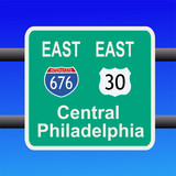 freeway to Philadelphia sign