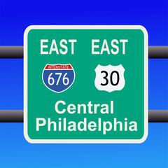 freeway to Philadelphia sign
