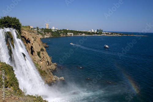 The falls beginning in Antalya, running into Mediterranean sea