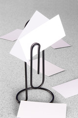 Paperclip Message Holder and Cards