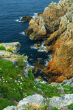 Atlantic coast in Brittany poster