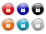 glossy buttons padlock poster