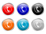 glossy buttons phone poster