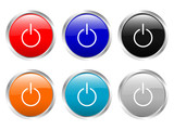 glossy buttons power poster
