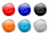 glossy buttons recycle poster