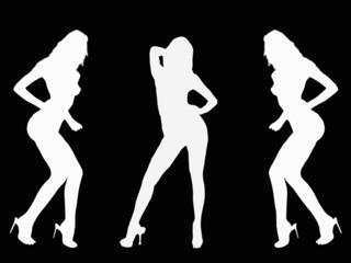 Sexy Dancing Women silhouette