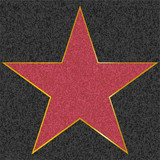 Fototapety walk of fame type star