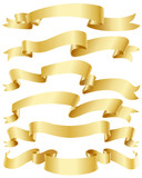Fototapety Gold ribbon set