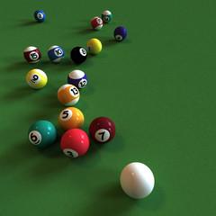 Four billiard balls 2