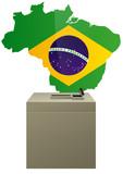 Election brésilienne poster