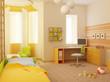 3d interior of the children's room