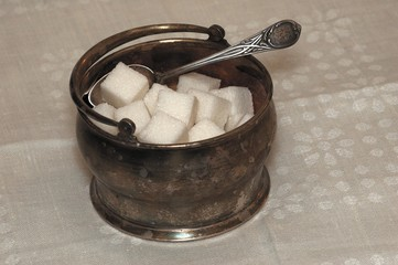 Sugar bowl. Silver of 19 centuries.