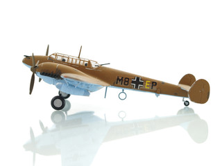 airplane on white background toy army military