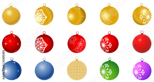 collection of shiny Christmas balls