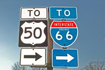 I-66 Sign