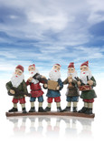 Five elves playing their music instruments at Christmas poster
