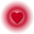 cuore con raggiera