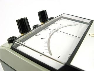 old analog electrical measuring instrument
