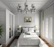 classic design of interior. Badroom. 3D render.