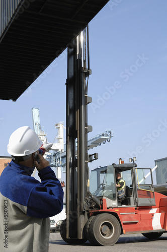 forklift, driver and loading