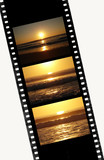 Film of 35mm with image of Sunset sequence poster