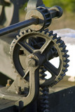 gears and cogs metal machine poster