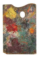 Palette of an artist