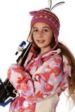 Enfant en vacance de ski poster