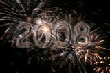 celebration sparkling fireworks explosion for 2008 poster
